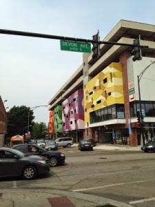 Indian town in Devon Avenue, Chicago
