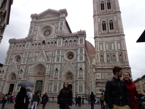 With the Duomo in Florence, March 2013